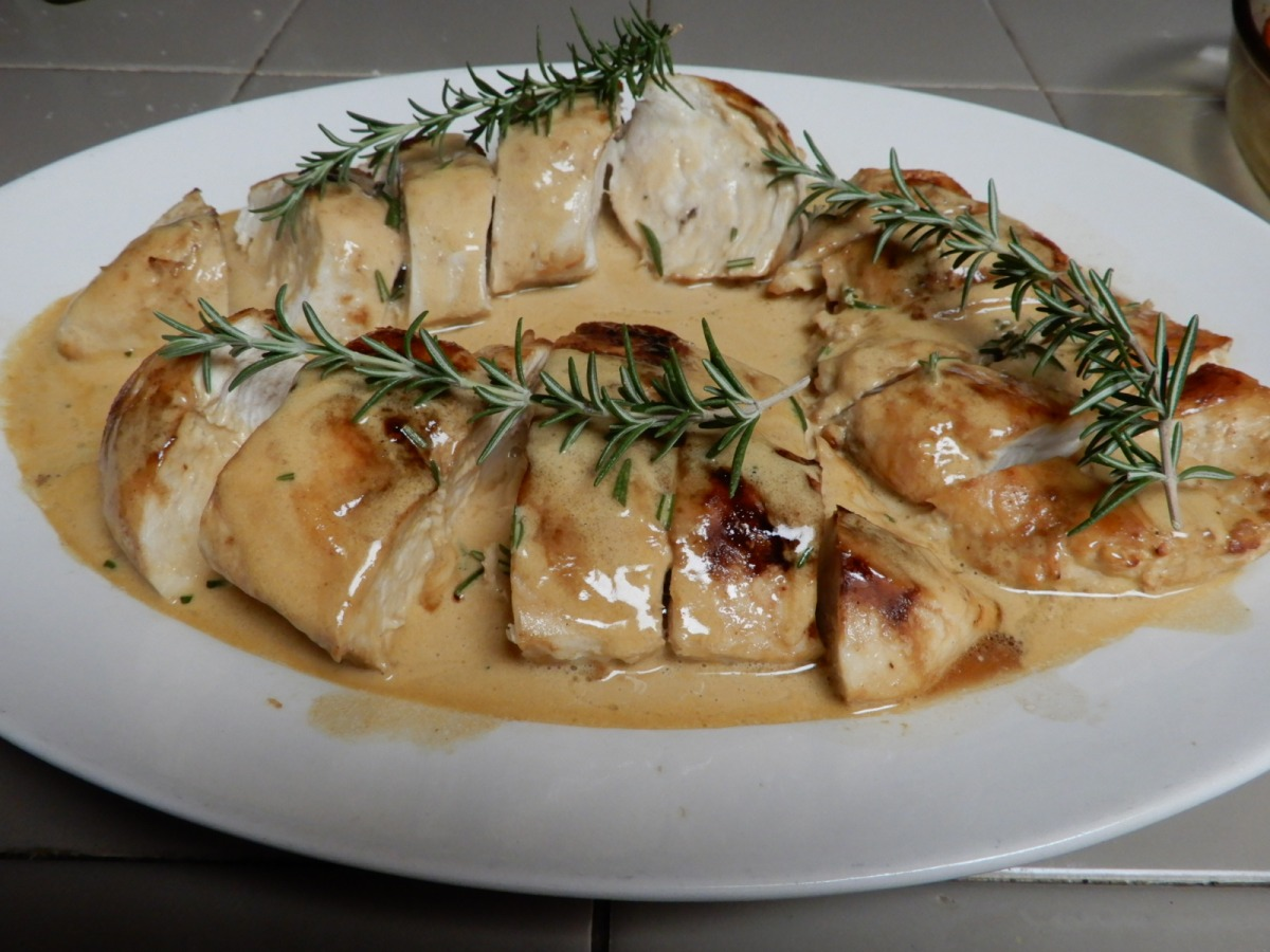 Chicken Breast with Rosemary Butter Sauce
