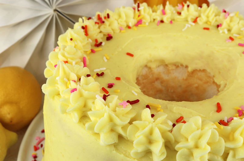 Lemon-Buttercream Angel Food Cake