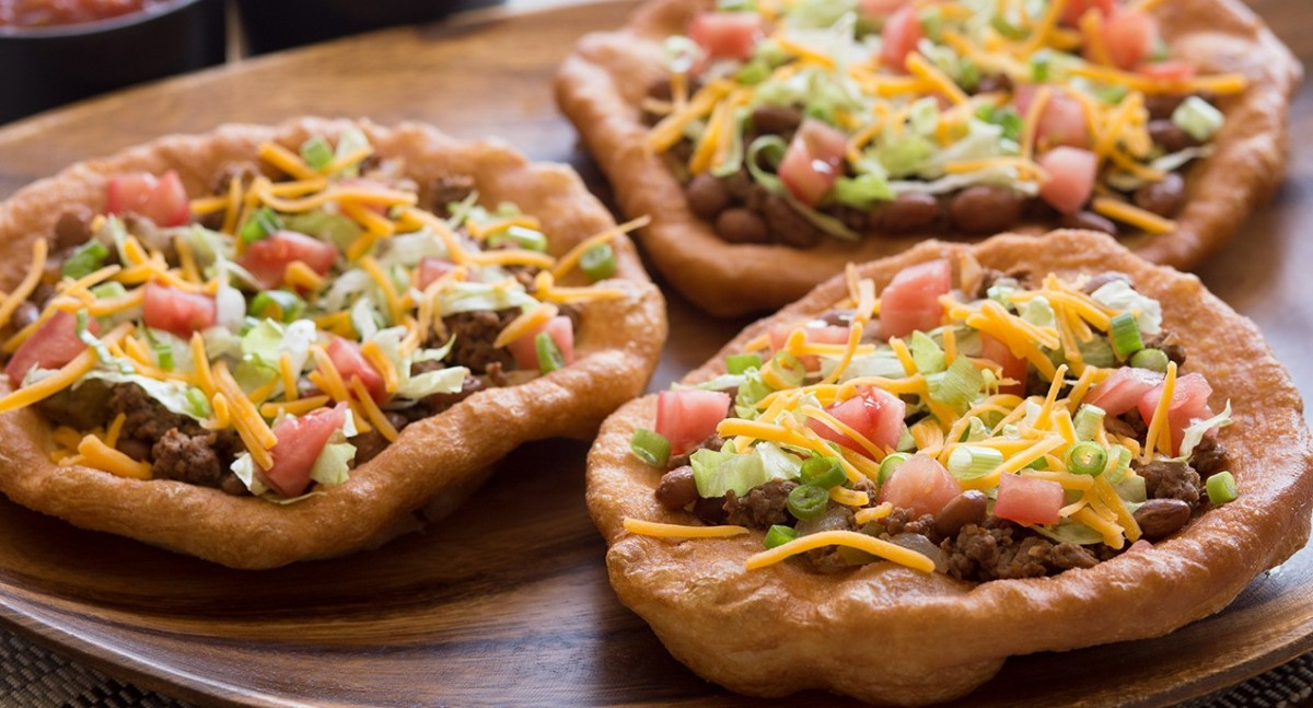 Bison Fry Bread Tacos