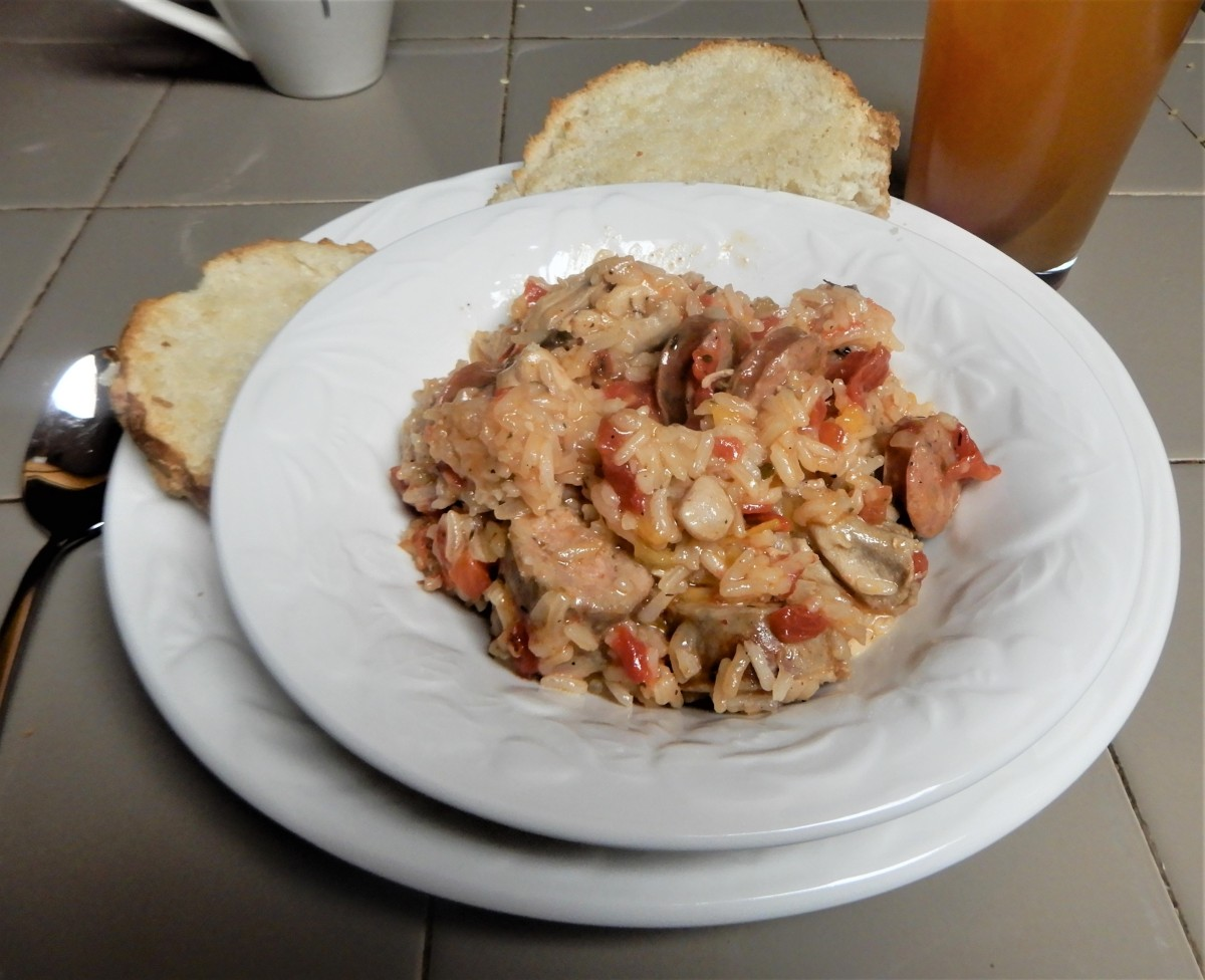 Louisiana Chicken and Sausage Jambalaya