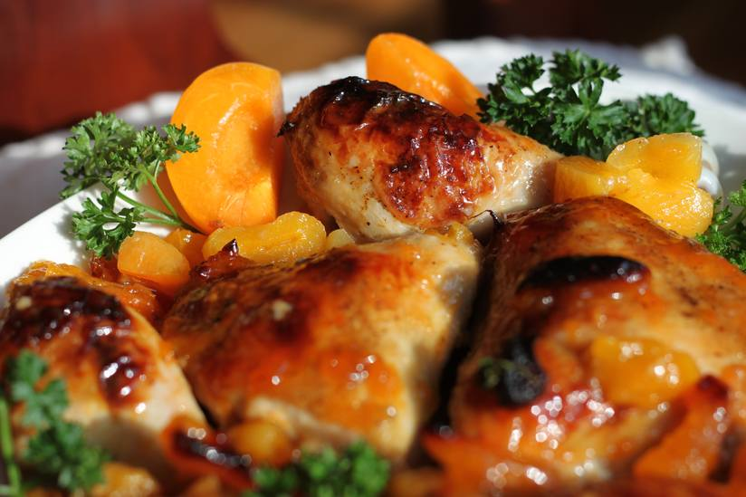 Sweetly Spicy Apricot Chicken