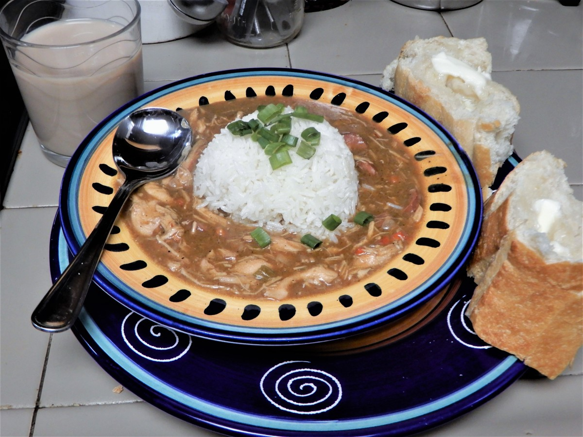 Fat Tuesday's Cajun Chicken and Sausage Gumbo