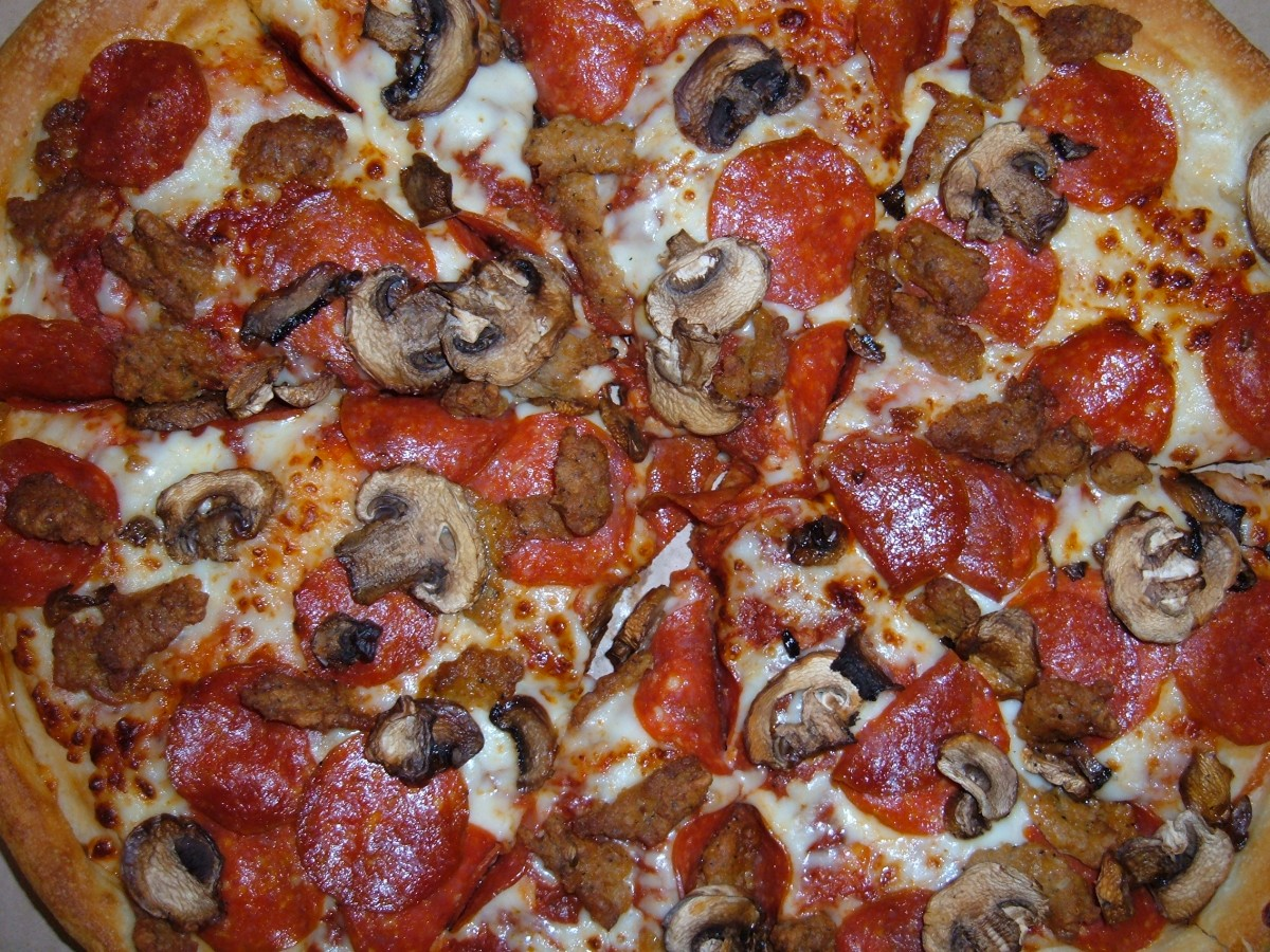Two Meat MushroomPizza