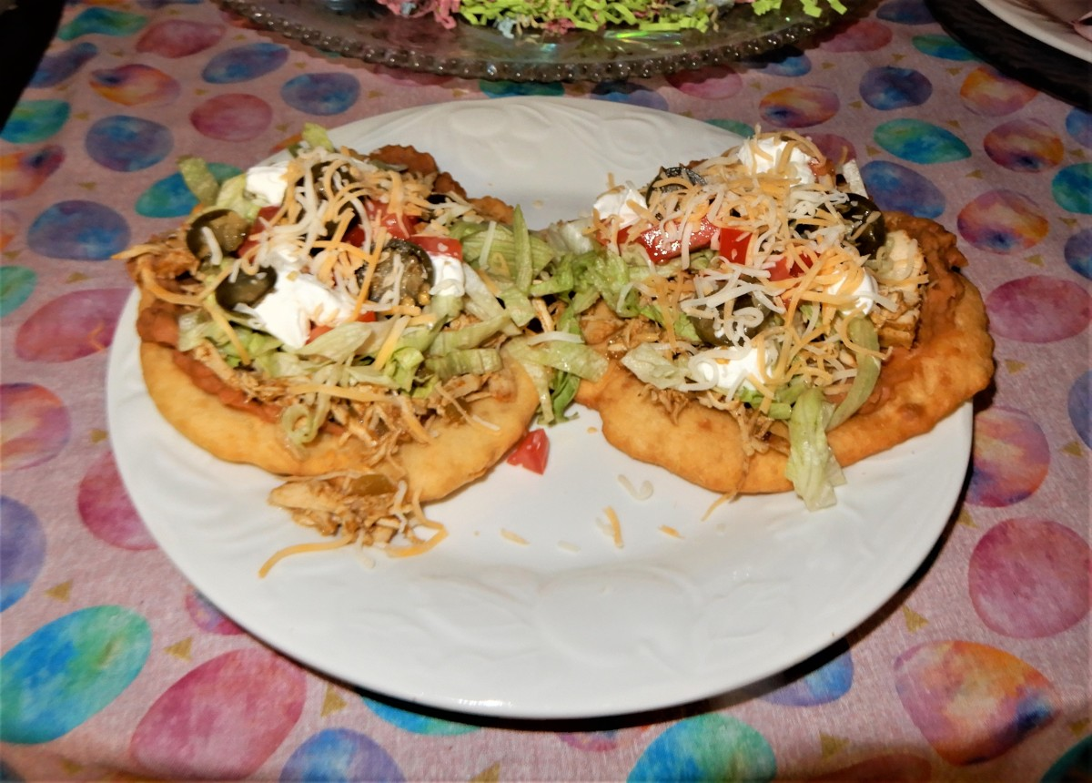 Fry Bread Tacos Chicken Style