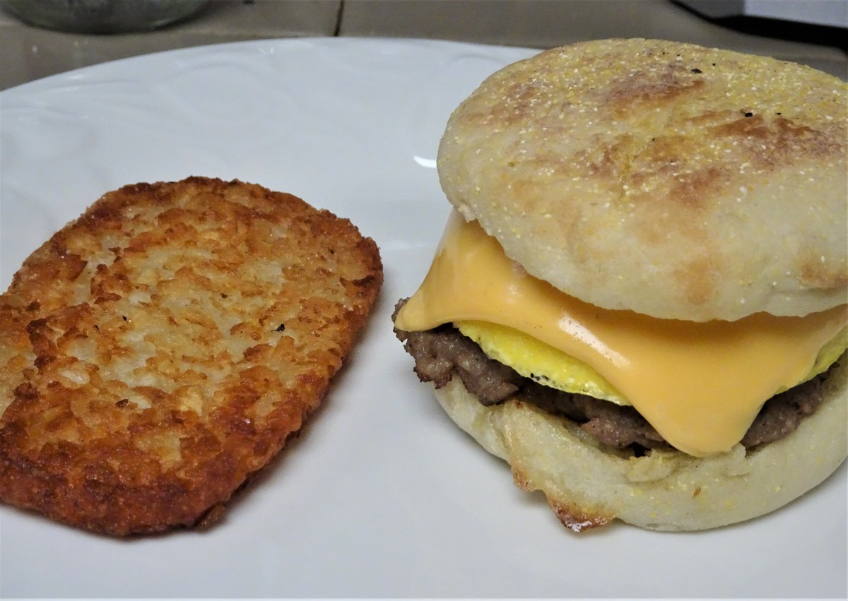 Good Morning Sausage and Egg MuffinSandwich!