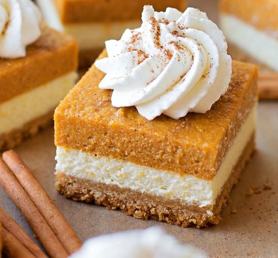 Yummy Pumpkin CheesecakeSquares